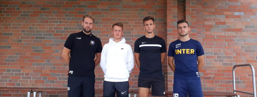 Welcome: Drei Neuzugänge im Oberliga-Team