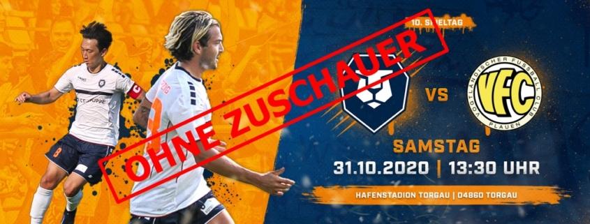 INTER gegen VFC Plauen am 31. Oktober ohne Zuschauer